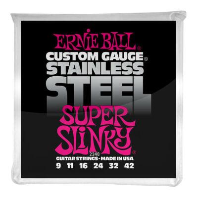 Ernie Ball 09-42 Stainless Steel Super Slinky - elektromos gitár húrkészlet