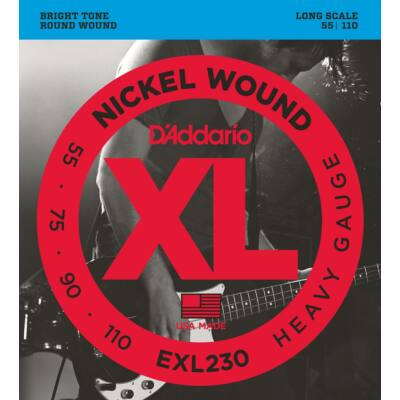 Daddario EXL230 Heavy Gauge 055-110 - basszusgitár húrkészlet