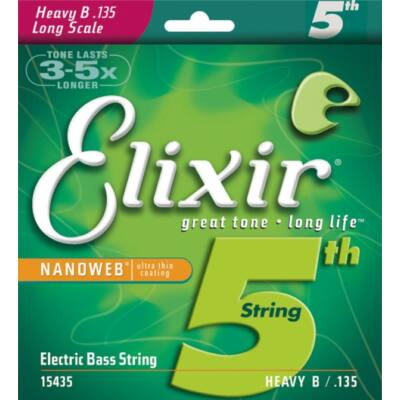 Elixir 15435 Nanoweb Bass 5th HEA B.135 - basszusgitár húrkészlet