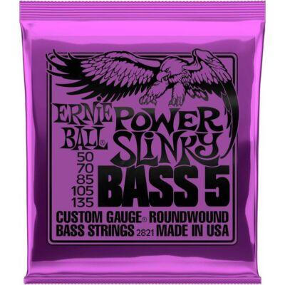 Ernie Ball 50-135 Nickel Wound Bass Power Slinky - basszusgitár húrkészlet 5 húros basszusgitárhoz