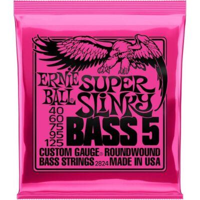 Ernie Ball 40-125 Nickel Wound Bass Super Slinky 5 strings - basszusgitár húrkészlet