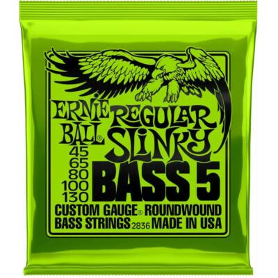 Ernie Ball 45-130 nickel Wound Bass Regular Slinky - basszusgitár húrkészlet 5 húros