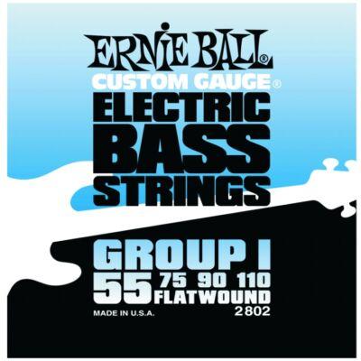 Ernie Ball 55-110 Flatwound Group I - köszörült basszusgitár húrkészlet