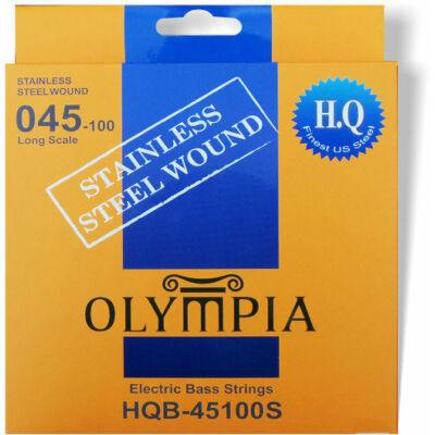 Olympia HQB-45100S stainless steel wound 45-100 - basszusgitár húrkészlet