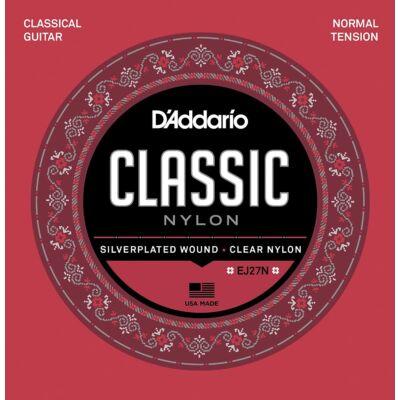 Daddario EJ27N Clear Nylon Normal Tension - klasszikus gitár húrkészlet