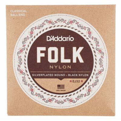 Daddario EJ32 Folk Nylon Ball End - klasszikus gitár húrkészlet