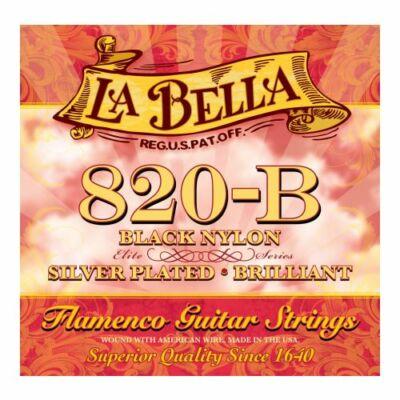 La Bella 820-B Silverplated Black Nylon flamenco/klasszikus gitár húrkészlet