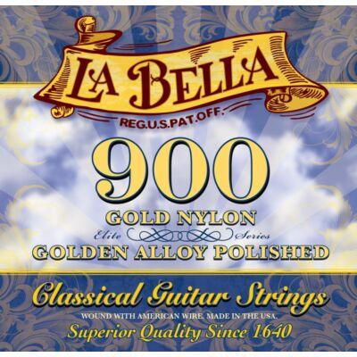 La Bella 900-B Golden Alloy Polished klasszikus gitár húrkészlet