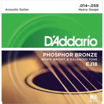 Daddario EJ18 Phos Bronze 14-59 - western gitár húrkészlet
