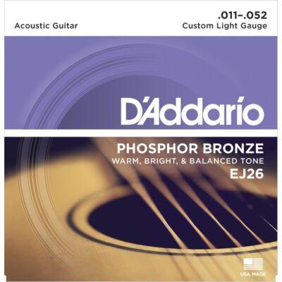 Daddario EJ26 Phos Bronze 011-052 - western gitár húrkészlet