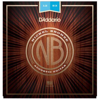 Daddario NB1253 Nickel Bronze Lite 012-053 - western gitár húrkészlet