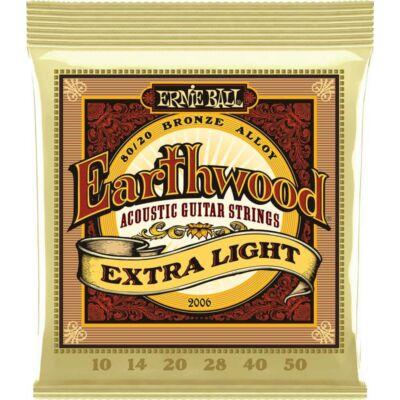 Ernie Ball 10-50 Bronze Extra Light - western gitár húrkészlet