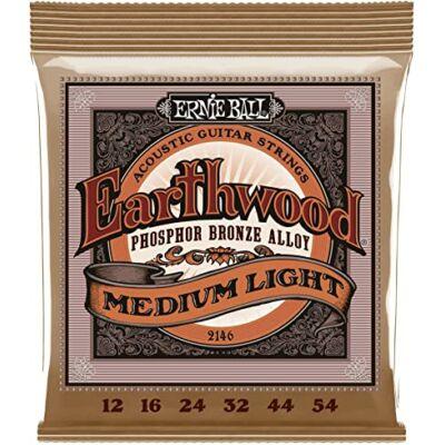Ernie Ball 12-54 Earthwood Phos. Bronze Medium Light  - western gitár húrkészlet