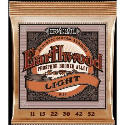 Ernie Ball 11-52 Earthwood Phos. Bronze Light - western gitár húrkészlet
