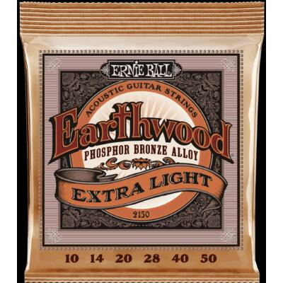 Ernie Ball 10-50 Earthwood Phos. Bronze Extra Light - western gitár húrkészlet