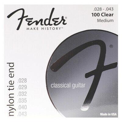 Fender 100 Nylon clear/silver - klasszikus gitár húrkészlet