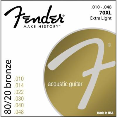 Fender 70XL 10-48 80/20 Bronze Light - western gitár húrkészlet