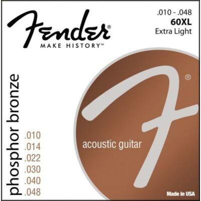 Fender 60XL 10-48 Phos. Bronze Light - western gitár húrkészlet