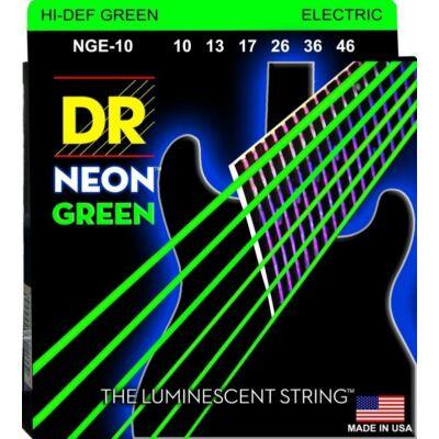 DR Strings NGE-10 elektromos gitárhúrkészlet Neon Zöld 10-46