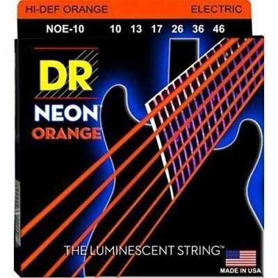 DR Strings NOE-10 elektromos gitárhúrkészlet Neon Narancs 10-46