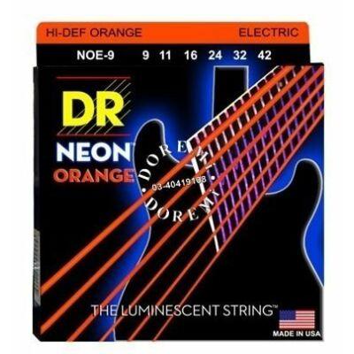 DR Strings NOE-9 elektromos gitárhúrkészlet Neon Narancs 9-42