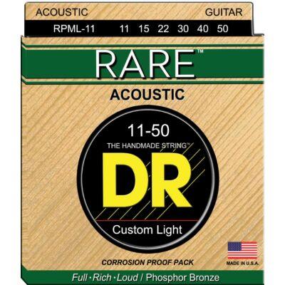 DR Strings RPML-11 húrkészlet akusztikus, kézzel készített 11-50