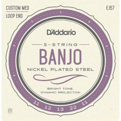 Daddario EJ57 - banjo húr, 5 húros, nikkel