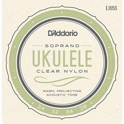 Daddario EJ65S Ukulele Clear Nylon - ukulele húrkészlet (szoprán)
