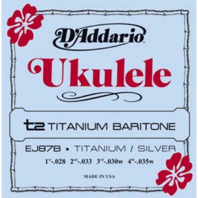Daddario EJ87B Bariton Ukulele Titanium - ukulele húrkészlet