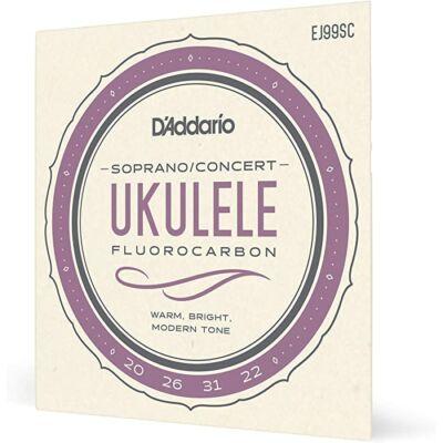 Daddario EJ99SC Sopran/Concert Fluorcarbon- ukulele húr